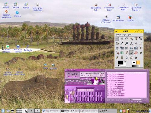 Mon écran sous kubuntu